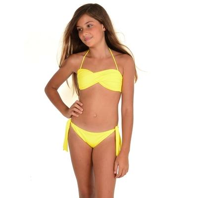 Mon Mini Twist Bikini jaune 2 pièces fille