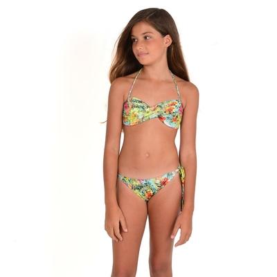 Maillot de bain 2 pièces fille multicolore Hawaï