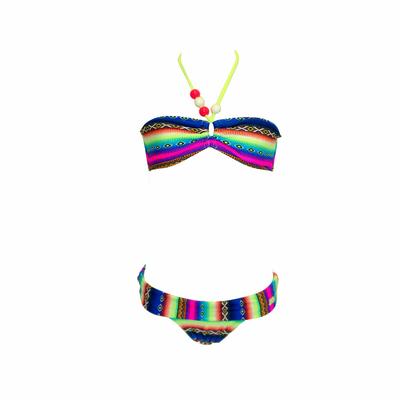 Mailllot de bain 2 pièces enfant bandeau multicolore Acapulco