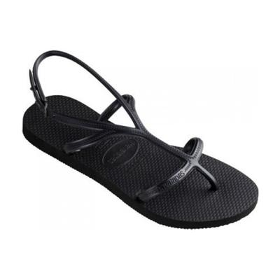Sandales de plage à brides noire Allure