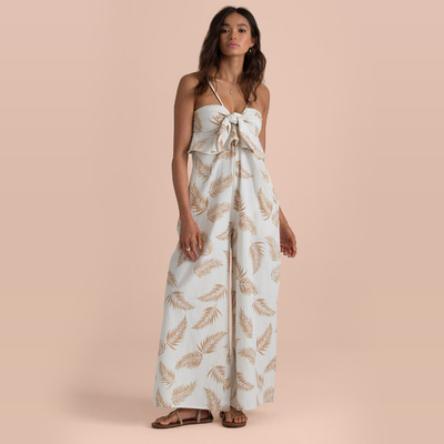 Combinaison pantalon blanche avec feuilles Twist Flirt Sincerely Jules