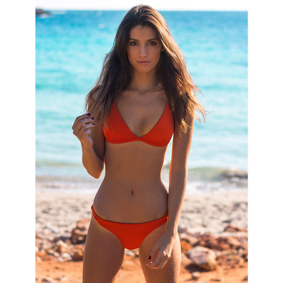 Haut de maillot de bain Triangle Orange Emilia