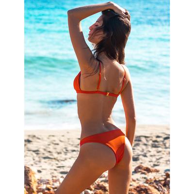 Bas de maillot de bain Tanga Orange Emilia