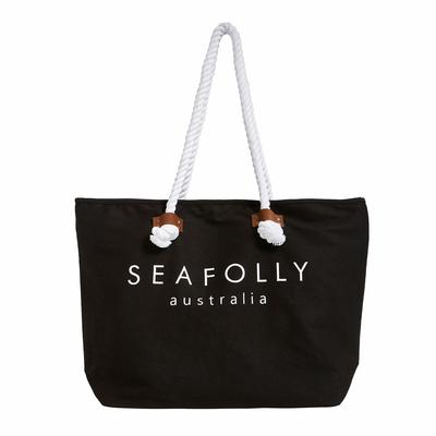 Sac de plage noir logo Seafolly
