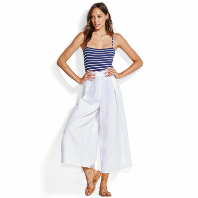 Pantalon Blanc Seafolly Sea Stripe