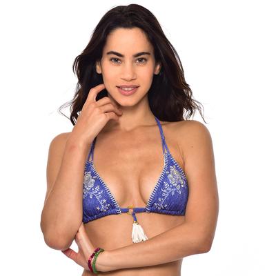 Haut de maillot de bain Triangle Bleu denim Flashback