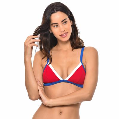 Haut de maillot de bain Triangle Rouge Iconic