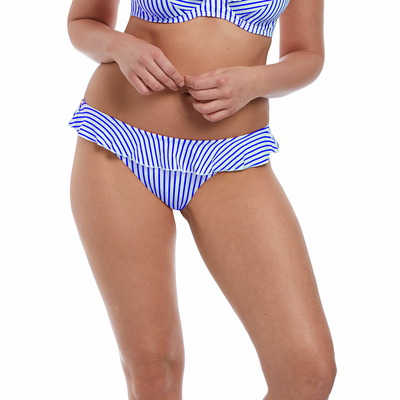 Bas de maillot de bain Culotte Bleu denim Totally Stripe