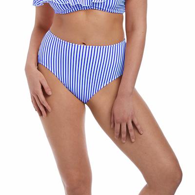 Bas de maillot de bain Taille Haute Bleu denim Totally Stripe