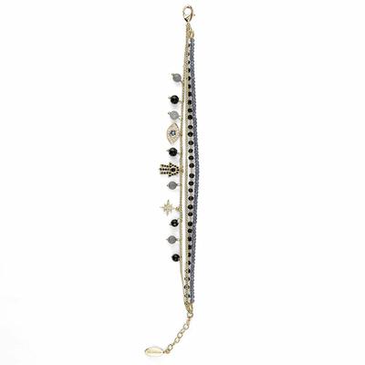 Bracelet Noir Amulette