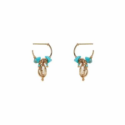 Boucles d'oreilles Bleu turquoise Zephyr