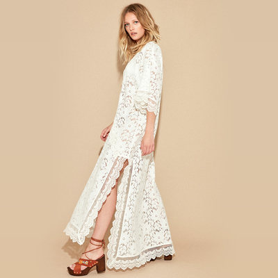 Robe manches longues Blanche Icone