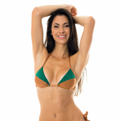 Haut de maillot de bain Triangle Marron camel Copper