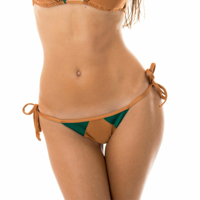 Bas de maillot de bain Culotte Marron camel Copper