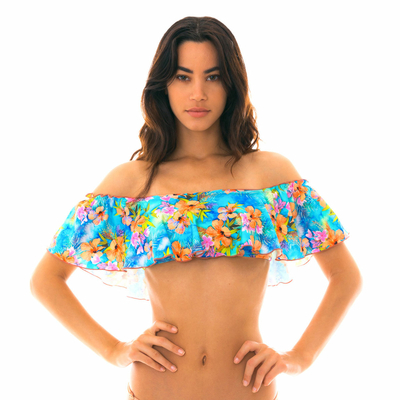 Haut de maillot de bain Bandeau Multicolore Maxi flower