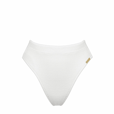 Bas de maillot de bain Taille Haute Blanc Retro Purity