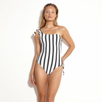 Maillot de bain 1 pièce Blanc Seaside Stripe