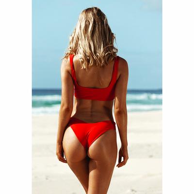 Bas de maillot de bain Tanga Rouge vermillon Hamptons