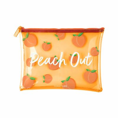 Pochette de plage Orange abricot Pèche