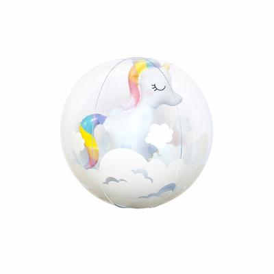 Ballon de plage gonflable Blanc Licorne
