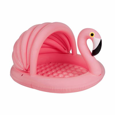 Petite piscine gonflable Rose pastel Cygne