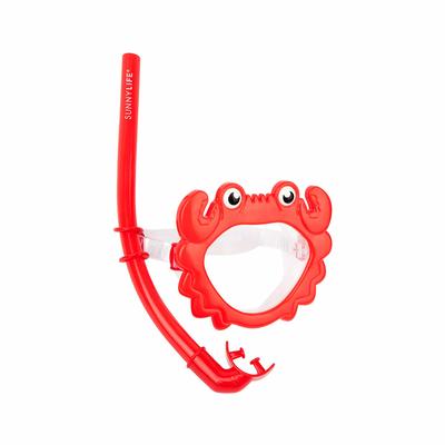 Masque de Plongée et tuba Rouge Crabe