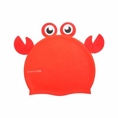 Bonnet de bain pour enfant Crabe Orange brique