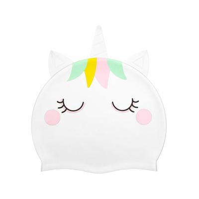 Bonnet de bain enfant Blanc Licorne