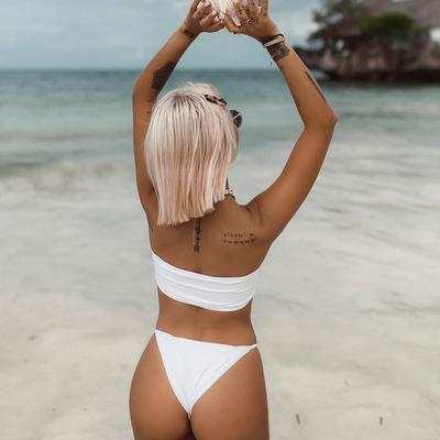 Bas de maillot de bain Tanga Blanc Zanzibar