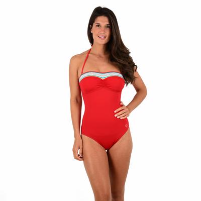 Maillot de bain 1 pièce Rouge vermillon Portofino