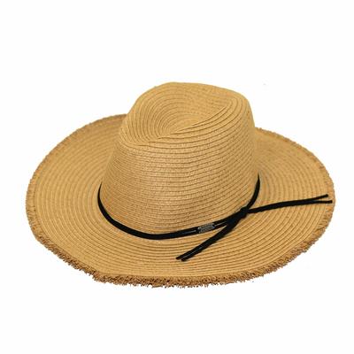 Chapeau de plage Marron camel Nils Hatsy