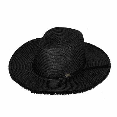 Chapeau de plage Noir Nils Hatsy