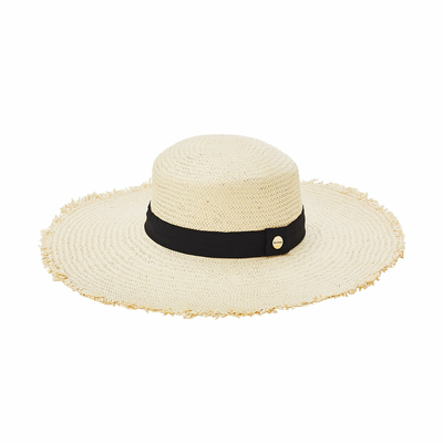 Chapeau de plage Beige Naturel Shady Lady