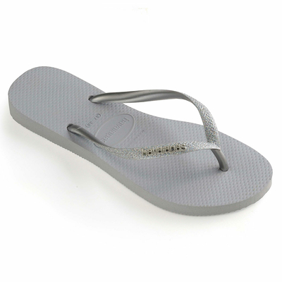 Tong slim glitter steel grey