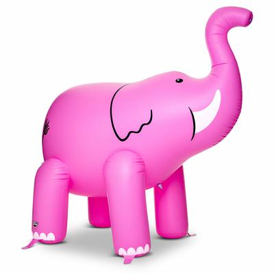 Grand éléphant gonflable à jets d'eau