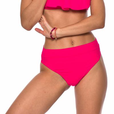 Maillot de bain tanga rose vif taille haute Colorsun (Bas)