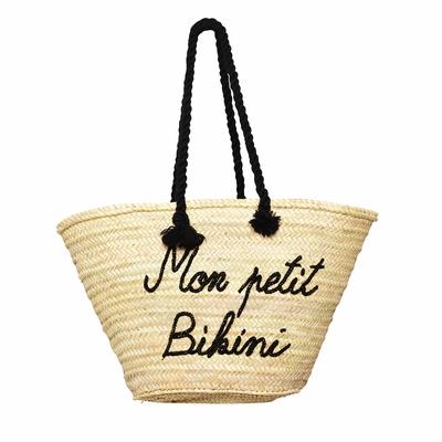 Panier en osier pailleté Mon Petit Bikini noir