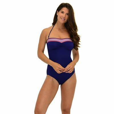 Maillot de bain 1 pièce Bustier Bleu marine Portofino