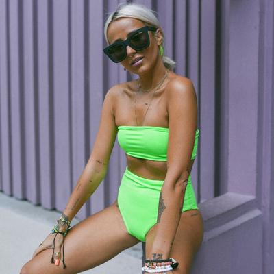 Bas de maillot de bain Taille Haute Vert Fluo - ÉDITION LIMITÉE