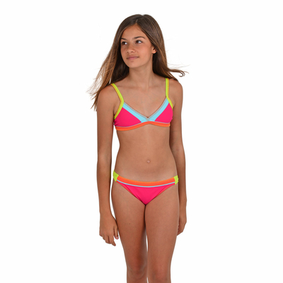 Maillot de bain enfant Triangle Rose fushia Teknicolor KIDS