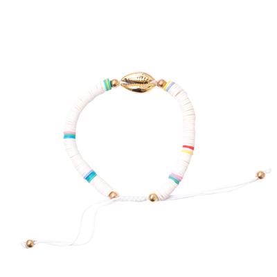 Bracelet maasaï blanc