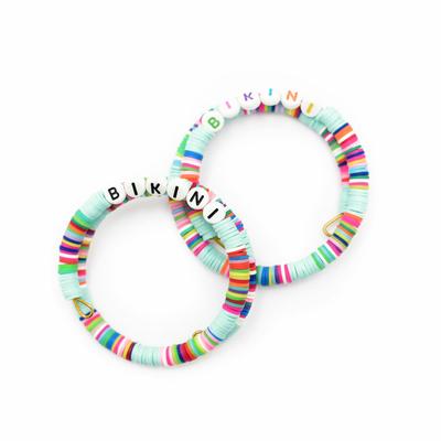 Bracelet personnalisable en perles plates fait main