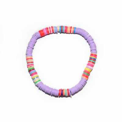 Bracelet maasaï uni lilas