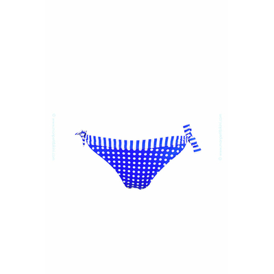 Bas de maillot de bain bianca à pois bleu Kiwi