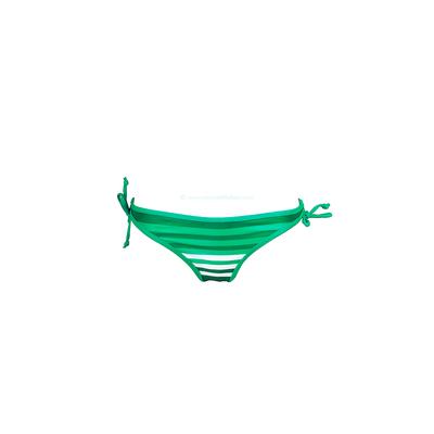 Culotte imprimé rayé vert Cadiz - Bas de bikini Desigual