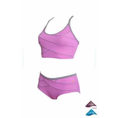 Maillot de piscine deux pièces shorty  Kôh violet parme