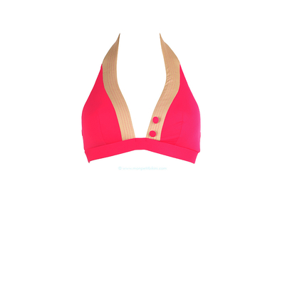Haut de maillot de bain triangle support mousse Smarty rose
