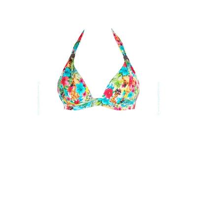 Haut de maillot de bain imprimé tropical multicolore Hualalai