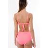 maillot-de-bain-taille-haute-rose-corail-L5416-dos