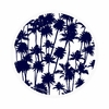 Serviette-de-plage-ronde-Palmeraie-bleu-détouré-les-antillaises-2017-monpetitbikini